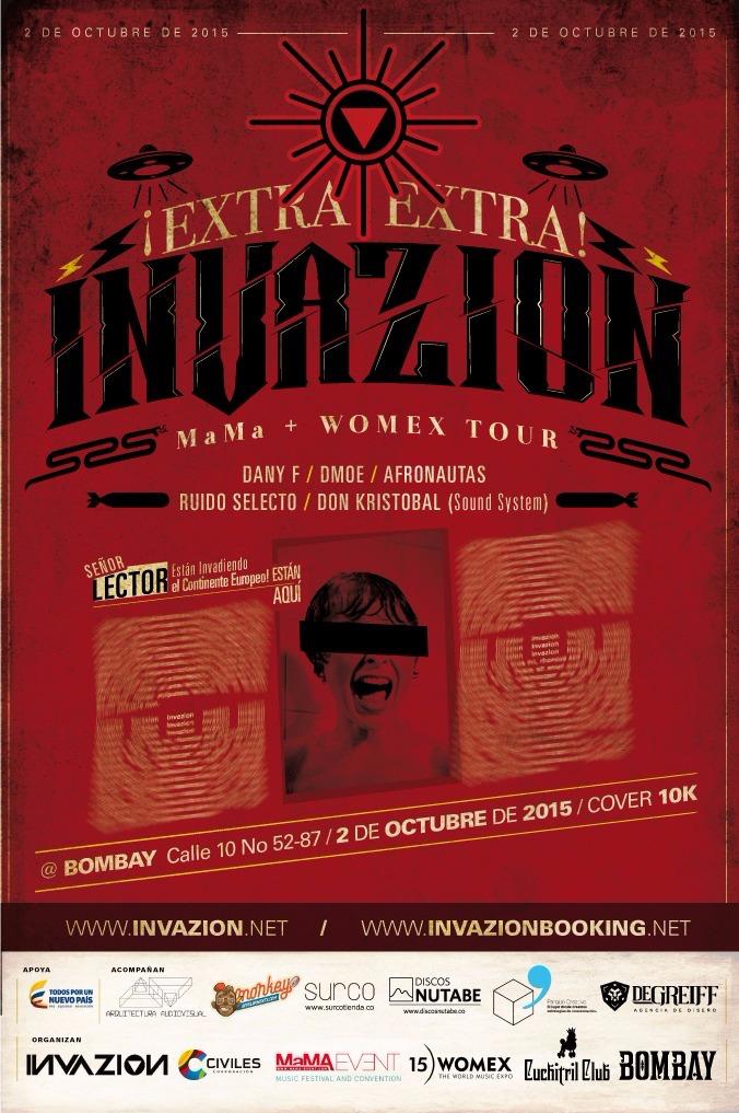 Invazion, invazion bombay, invazion medellin, artistas invazion, MaMA tour, WOMEX tour